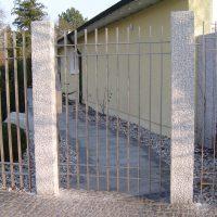 Gartentüre aus VA-Flachstahl